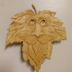 "6"" x 6"" Maple leaf man in Basswood."