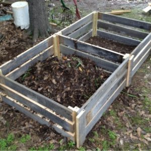 Compost bin - recycled cypress.