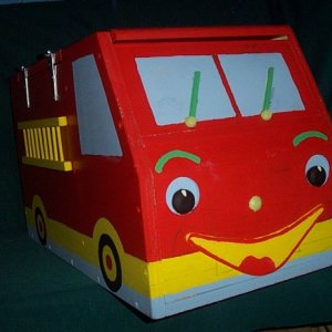 Fire Engine Toy box right side