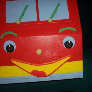 Fire Engine Toy box front