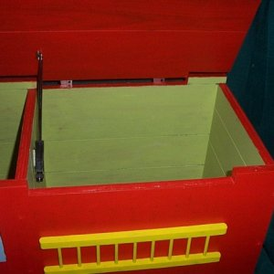 Fire Engine Toy box inside