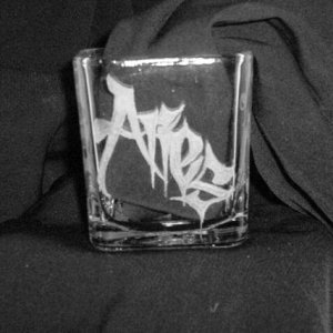 practise - square candle votive I made for my husband.  He is an Aries