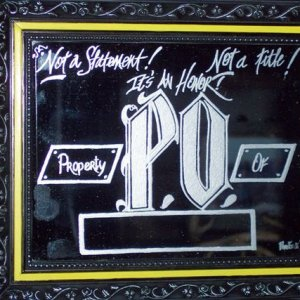 "8x10 mirror - Cossack MC PO, (Property Of),.  I make these for the ""Ol lady's"", (wives/girlfriends), of Cossack Brothers.  I have many diffe"