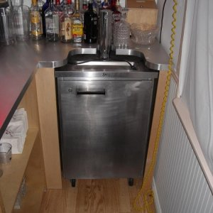 came up on a kegerator for cheap decided to build a bar and chairs around it with a friend