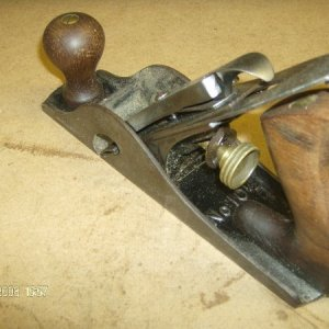 This different plane is a #10 1/2 Carriage maker's rabbet plane. I use it as a rabbet smoother to plane stock up to an inside edge. This version is a