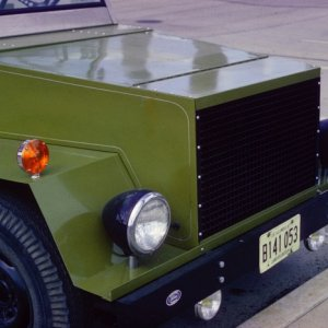 Egg crate grill and headlamps off a 1949 White garbage truck