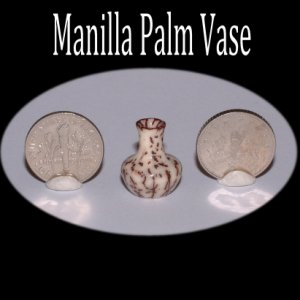 Vase made from Manilla Palm nut