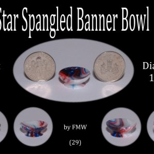 Bowl made from Star Spangled Banner Acrylic