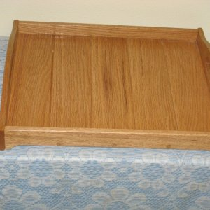 Oak serving tray