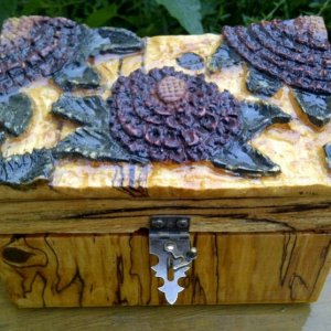 A carved ladies Jewelry Box