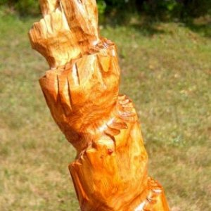 road to the cross Walking Stick made from Apple wood