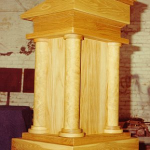 White Oak Lectern for Caddo Magnet High School.