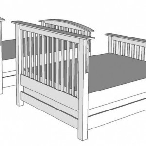Mission Style Bed, one of these is next project