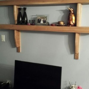 Solid cherry Mantle Ledge shelf