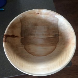 Manitoba maple mineral oil finish