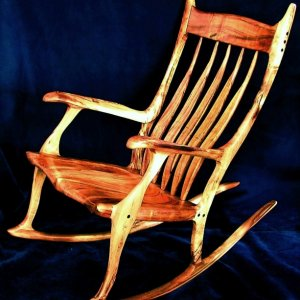 Koa wood rocker for a customer in Hawaii