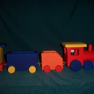 Large wooden Train 2