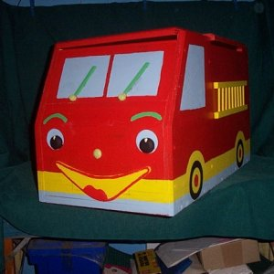 Fire Engine Toy box left side