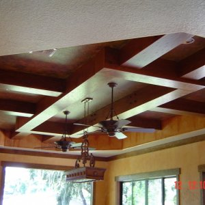 Cypress Game Room Ceiling