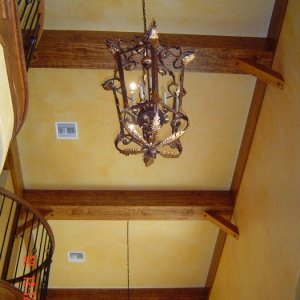 Hand crafted Cypress Beams.