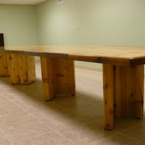 Finished-18' x 4' cedar conference table