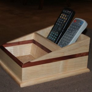 maple and red cedar remote control holder