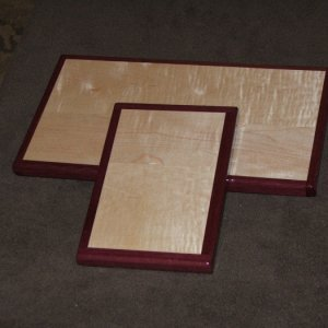 maple and purpleheart cutting boards