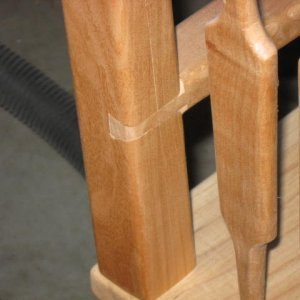 Sliding dovetail   arm into back post