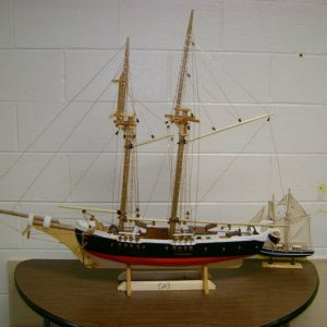 finished ship in the hall