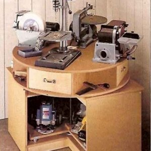 Rotating work bench