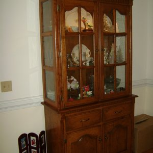 China hutch made for my Dad and step Mom