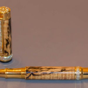 Stabilized Spalted Maple Rollerball
