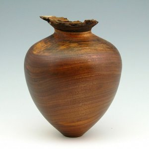 natural edge walnut hollow form