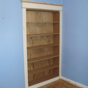 Bookshelves with access