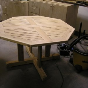 Cedar Octagon Table