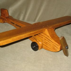 Piper Cub. Pine body, poplar wings