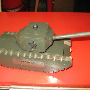 Army Tank. Oak and poplar