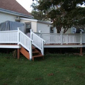 And a corner view of the new deck...