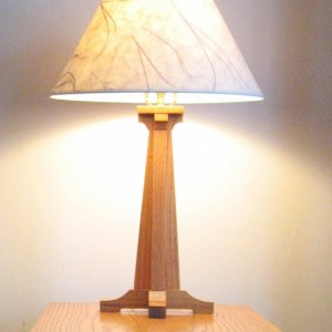 Mission style table lamp -