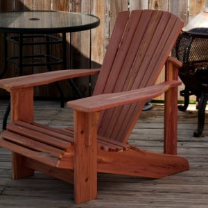 Adirondack chair built out of eastern red cedar