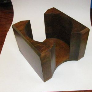 "Maple Coaster Caddy.  5""x5""x3 1/2"" Hard Maple, Bandsawn, Dye, Watco Danish Oil, Wipe On Varnish"