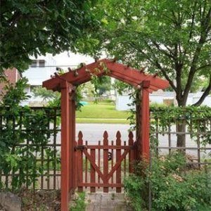 The entry arbor I built following a 1927 design.