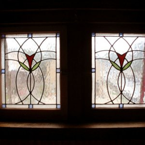 The pair of windows that are in my former bedroom (previous house).  I built the casement windows myself from salvaged wood from the house using a 1/2