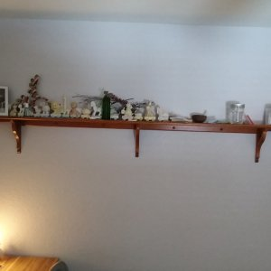 Scrap Oak Display Shelf