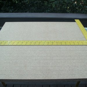 "24"" x 24""x 3/4"" particle board, laying out guidelines"