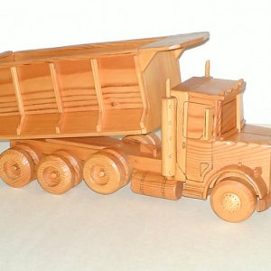 Dump Truck made of Light Redwood