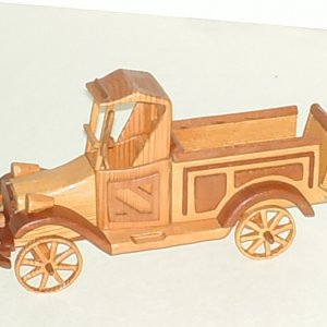 1917 Ford Pickup Truck made of Dark/Light Redwood, Oak,Walnut