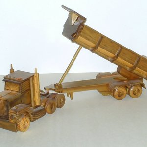 Rig with Longdump made entirely out of Treated Lumber