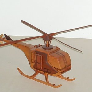Helicopter made of Dark/Light Redwood
