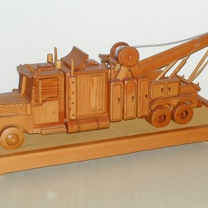 Old School Wrecker made entirely out of Light Redwood,over 200 pieces